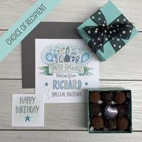 Truffles And Personalised Cactus Birthday Card Gift