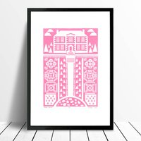 Manor Garden Screen Print Available In More Colours