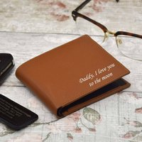 Personalised Leather Tanned Wallet In Box