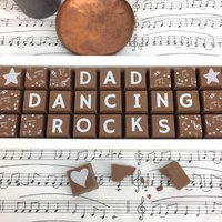 Dad Dancing Rocks Chocolate Gift For All Dads