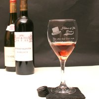 Personalised Father Of The Bride Wine Glass In Gift Box