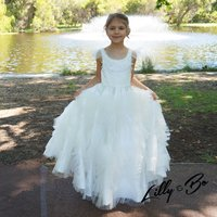Valentina ~ Satin And Organza Flower Girl Dress