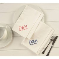 Personalised Table Napkins For Weddings