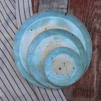 Handmade Ceramic Coastal Blue Side Plate