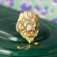 Lion Head Ring In Gold Or Silver, Silver