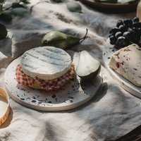 Recycled Shell Round Terrazzo Serving Platter