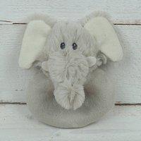 Elephant Baby Set, Rattle And Matching Mini Toy