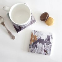 Red Footed Falcon Stone Tile Coaster