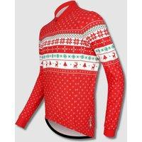 Mens Long Sleeve Christmas Jumper Cycle Jersey