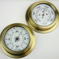 Sailing Weather Gift: Tide And Clock Or Barometer, Grey/Cream/Bronze