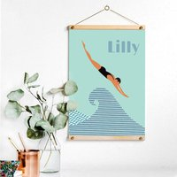 Personalised Swimmer's Print