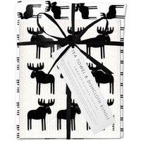 Black Moose Dishcloth And Tea Towel Bundle