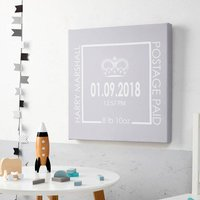 Children's Personalised New Baby Birth Date Picture