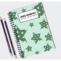 Personalised Teacher Gift Notebook And Pencils