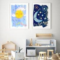 Sun, Moon And Stars Art Print