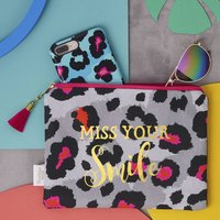 Animal Print Miss Your Smile Lockdown Pouch