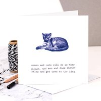 Cat Lover Card 'Will Do As They Please'
