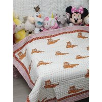 New Baby Pure Soft Cotton Filling Kantha Blanket Quilt