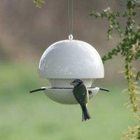 Birdball Seed Bird Feeder, Lime/Blue/Grey