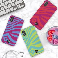 Colourful Zebra Print Personalised iPhone Case