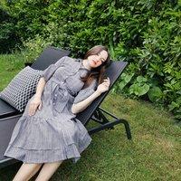 Margarita Midi Shirt Dress In Gingham Cotton