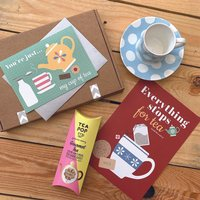 Tea Themed Thinking Of You Letterbox Gift Box