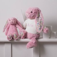 Personalised Blossom Tulip Pink Bunny Soft Toy