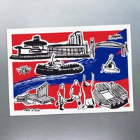 Six Features Of Salford Quays Postcards
