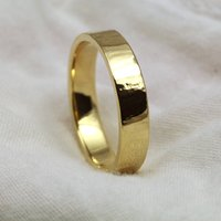 5mm Flat Profile 18ct Gold 'Orchy' Ring, Gold