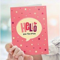 New Baby Card Hello Baby Girl