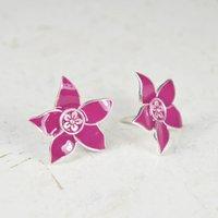 Eloise Flower Stud Earrings Silver, Silver