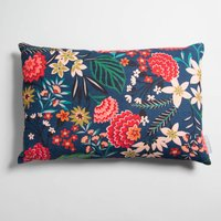 Carnation Floral Linen Rectangular Cushion