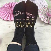 Loveliest Mummies Make Great Grandma Socks