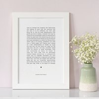 Personalised Courage Print