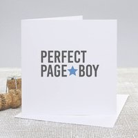 'Perfect Page Boy' Wedding Thank You Card
