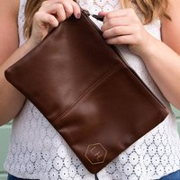 Personalised Faux Leather Accessory Pouch