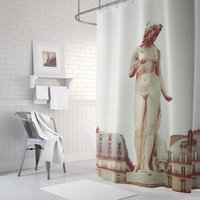 Paris Woman Fabric Shower Curtain