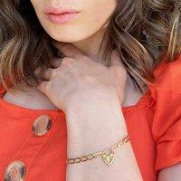 Heart Lock And Chain Bracelet