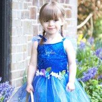 Personalised Blue Flower Fairy Dress