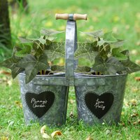 Set Of Two Personalised Winter Patio Planters