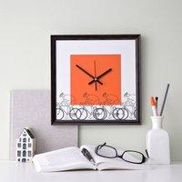 Cycling Hobby Wall Clock, White/Blue/Orange