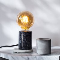 Black Marble Table Lamp With Bulb