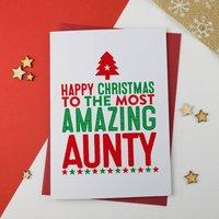 Amazing Aunty, Aunt, Auntie Christmas Card