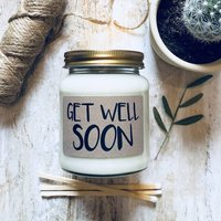 Get Well Soon Scented Natural Soy Candle