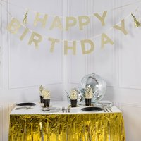 Say It With Glitter 'Happy Birthday' Banner