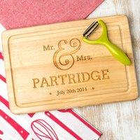 Personalised Wedding Engraved Chopping Board