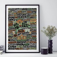 Dulwich Typographic Print