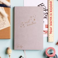 And Breathe Personalised Luxury Journal Notebook