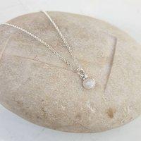 Silver Moonstone Necklace, Silver