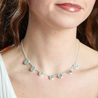Aquamarine Gemstone March Birthstone Necklace